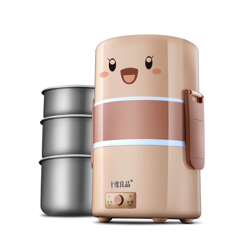 New Portable Handle Electric Lunch Boxes Three Layers Pluggable Insulation Heating Lunch Box Hot Rice Cooker Electric Container multi function electric lunch box stainless steel tank household pluggable electric heating insulation lunch box