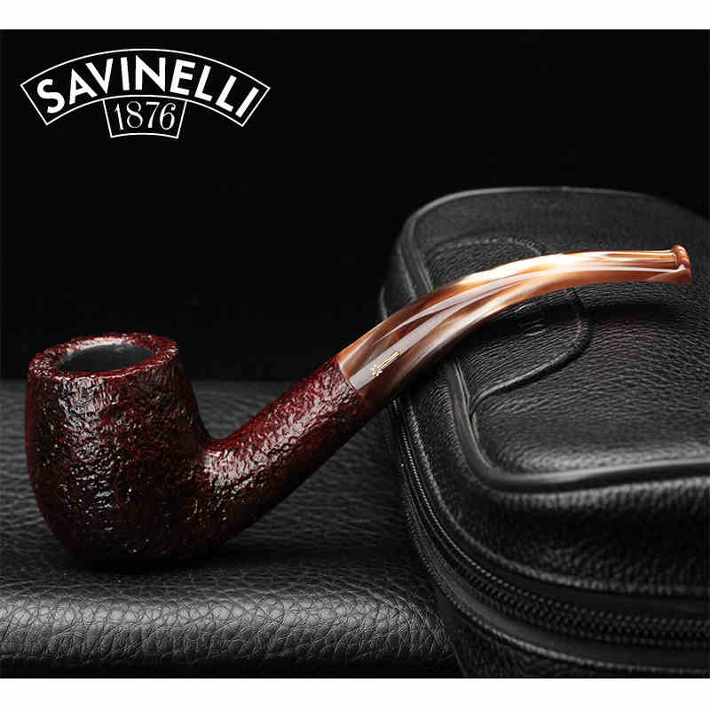Savinelli Men's Bent Briar Pipe Tobacco Pipe