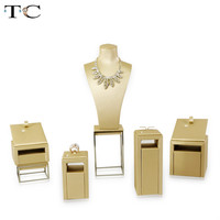 New Jewelry Store Window Counter Showcase PU Ring Earring Bracelet Necklace Jewelry Display Holder Stand Jewelry display stand