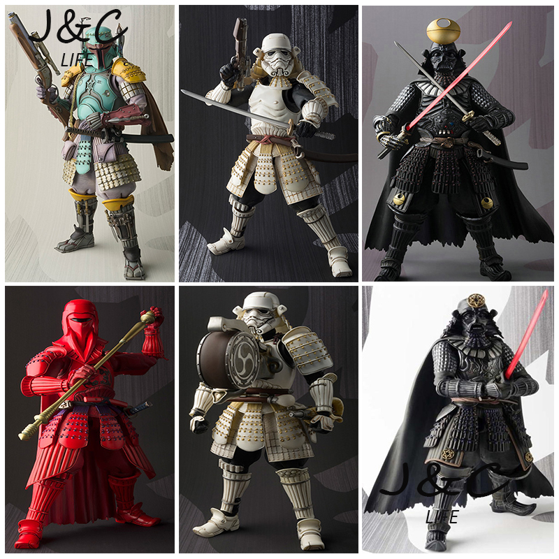 цена на Rogue One Star Wars Action Figures Darth Vader Boba Fett Sic Samurai Taisho 17cm Anime Star Wars Figures Toys For Children Gifts