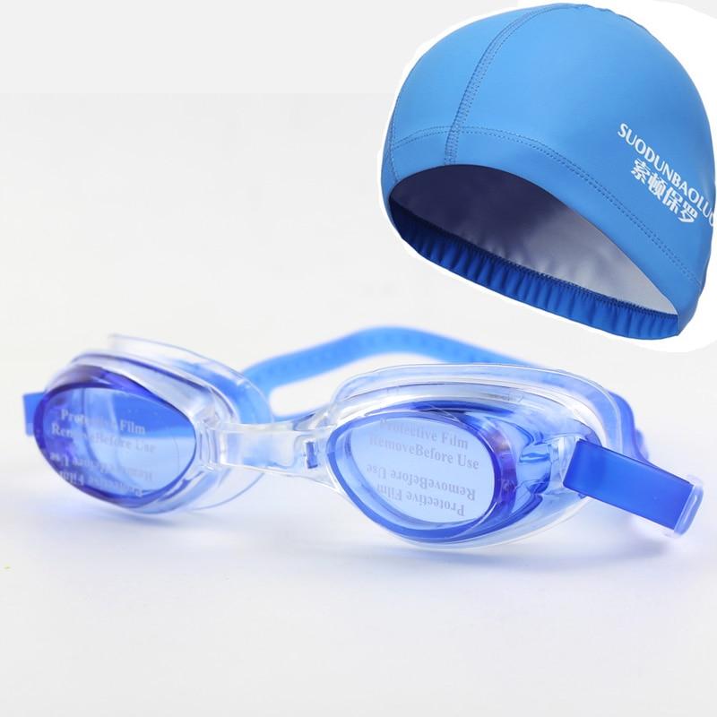 Novi odrasli vodootporni plivati naočale za plivanje naočale naočale w / Case i uho za zaštitu kose PU tkanina kapa kapa za muškarce žene dame