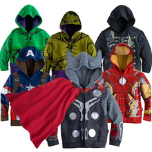 Kids baby Set 2016 Fall Winter Warm Clothes Full Sleeve Sport Children Boy Hooded Sweatshirt cotton heroTracksuit