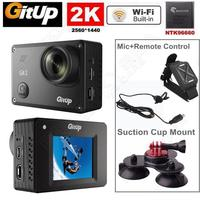 Free Shipping Gitup Git2 16M 1080P WiFi 2K Sports Camera Remote Control Mic Suction Cup Stand
