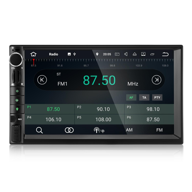 ZEEPIN Unità della Testa Dell'automobile Ricevitore 7-pollici di Intrattenimento Audio Bluetooth Car Multimedia Player RAM 4 gb + ROM 16 gb 2 Din Android 8.0