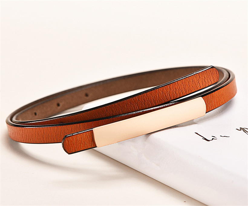 New High-grade Thin Women's Belt Genuine Leather Knot Decorative Belts Female Cowhide Waist Strap Fashion High Quality