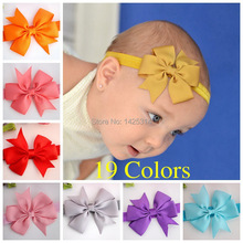 Kids Bows headband Newborn Soild Colors hairband hair accessories Boutique bebe acessorios headwear meninas vestir 20pcs