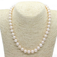 GB New Natural Freshwater Pearls Super big Large beads 11 12MM Near Round Pearl Choker Mom day's gift Royal Pearl Jewelry