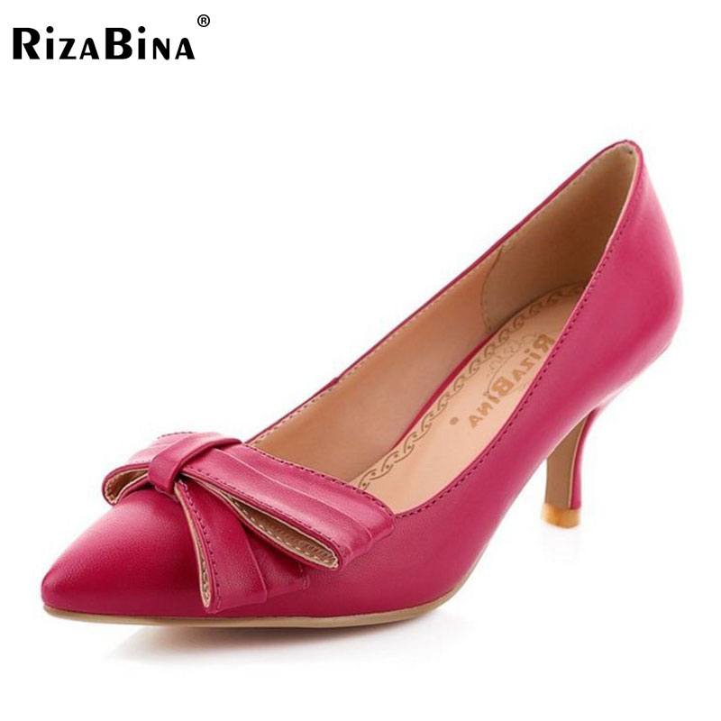 RizaBina women stiletto high heel shoes lady party quality footwear pointed toe brand heeled pumps heels shoes size 32-43 P17320 taoffen women high heels shoes women thin heeled pumps round toe shoes women platform weeding party sexy footwear size 34 39