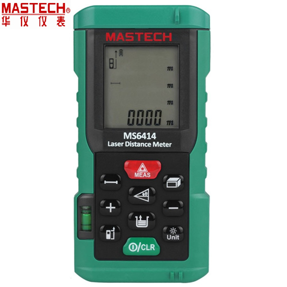 MASTECH MS6414 Digital Rangefinder 40M +/- 2mm Accuracy Laser Distance Area Volume Meter Laser Tape Measure With Bubble Level nf 2650 digital laser distance meter handheld laser rangefinder tape measure distance area volume in level tool lofting function