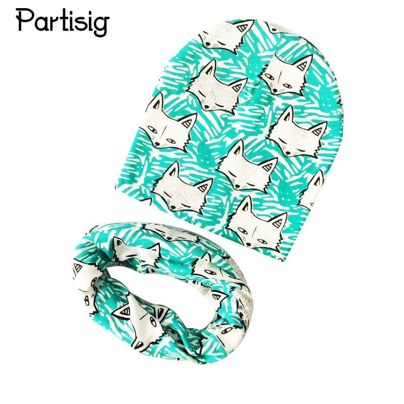 Baby Hat Strawberry Print Hat Scarf For Baby Girl Boy Kids Cap Scarf 2pcs Set All For Children's Accessories And Clothing