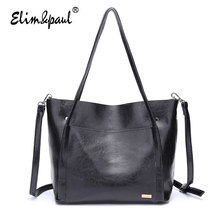 ELIM&PAUL Women Leather Handbags Women Messenger Bags Bolsa Feminina Top-Handle Bags Ladies Retro Luxury Bags Shoulder Bags 7173
