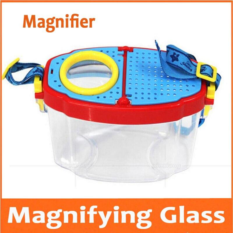6x Cilindrische Kinderen Vergrootglas Voor Kleuterschool Leerlingen Gift Speelgoed Insecten Dieren Planten Viewer Waarnemer Vergrootglas