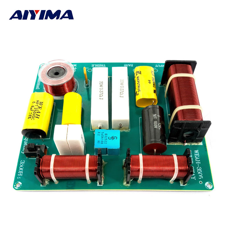 AIYIMA 1Pcs 300W 3way Frequency Divider Board KTV Stage динамикасы Crossover Enthusiast DIY HiFi Aodio Treble Alto Bass Divider