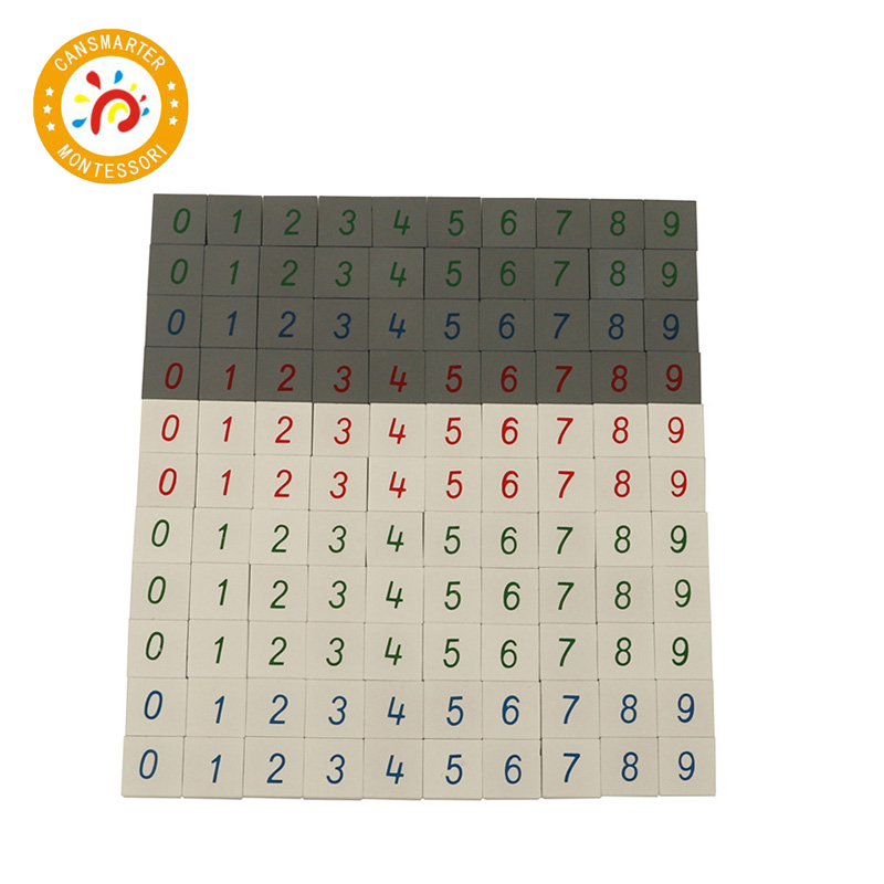 Baby Toy Montessori Material Wooden Math Toy Number Tiles Child Calculation Kid Toy in Math Toys from Toys Hobbies