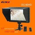 Viltrox dc-90 hd 8.9 ''súper gran pantalla lcd hdmi av cámara de vídeo monitor de pantalla + batería + cargador para canon nikon dslr bmpcc