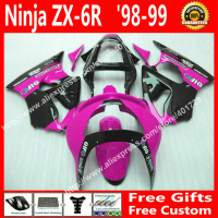 ABS plastic Fairings for 1998 1999 Kawasaki Ninja ZX 6R 636 ZX6R 98 99 new purple black part kit 7gift EV18