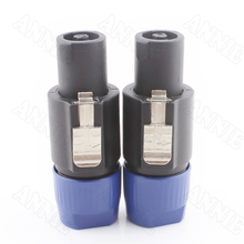 Фотография 50pcs/lot Aviation Socket High Quality 4 Pin XLR Audio Plug Professional Speaker Jack