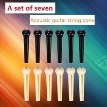 Folk-gitarre teile gitarrensaiten kegel/schwarz und weiß saiten nagel/7 stücke von jedem satz auf verkauf