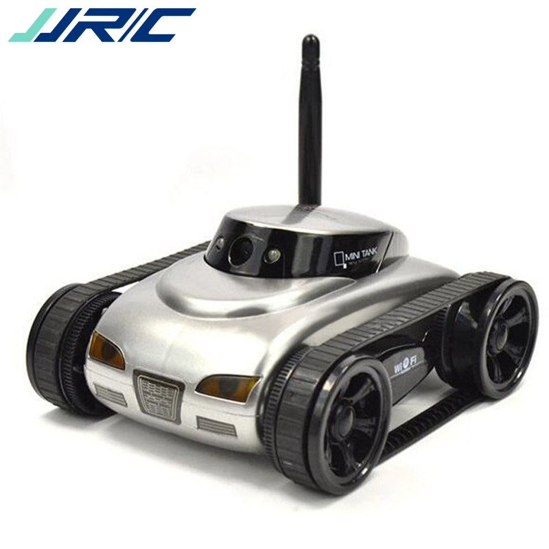 JJRC 777-27 2018 Remote Control Mini WiFi RC Robot Car Camera Real-time Tank Kids Toy For Iphone IOS For Android Smart Phone wifi mini rc camera tank car ispy with video 0 3mp camera 777 270 remote control robot with 4ch suppots by iphone android app