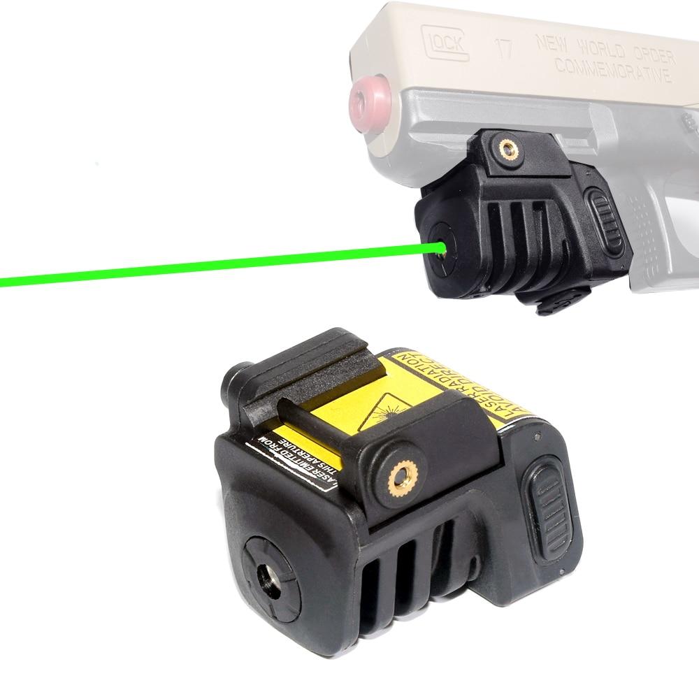 Micro Green Dot Pistol Laser Compact Tactical Green Laser Sight Scope for Most Handguns Fit 20mm Rail boresighter scope alignment device rifles pistols handguns firearms bore sight kit