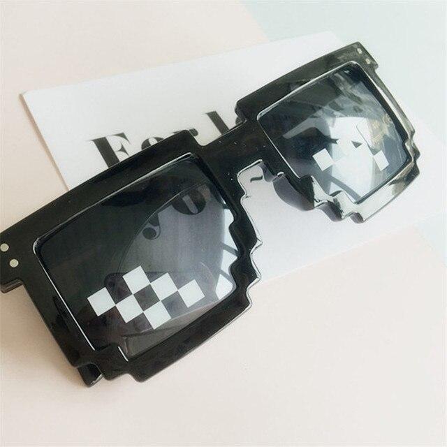 7e9e5f564 Clássico jogo Sandbox Minecraft Óculos Sem Aro Óculos Steampunk Thug Life  elemento Quadrático Cosplay Engraçado Óculos