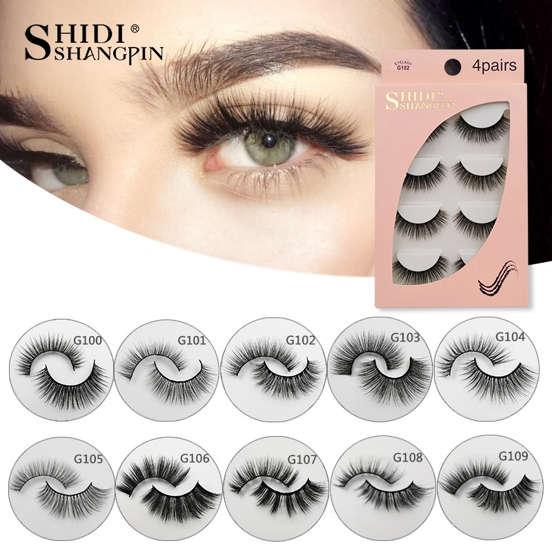 New 1 Pair Self-adhesive False Eyelashes Natural Long Makeup Real 3d Mink Lashes Extension Thick Mink False Eyelashes For Beauty To Assure Years Of Trouble-Free Service False Eyelashes Beauty Essentials