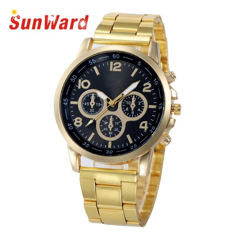 Sunward Relogio Feminino Stainless Steel Sport Quartz Hour Wrist Analog Fashion Women Watches Horloge 17May5