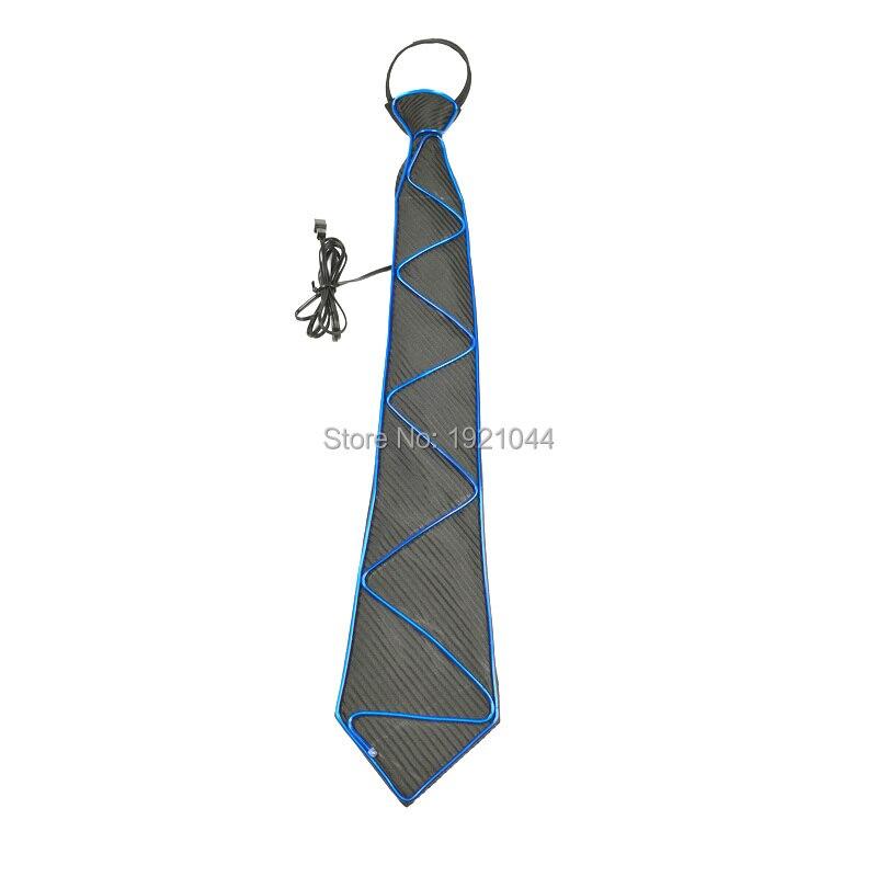 Обновленный светящийся галстук EL Wire светящийся галстук со звуком активный драйвер 30 штук неоновый холодный свет галстук 30 штук оптовая про