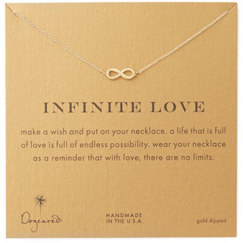 Gold chain dogeared infinite love floating locket charm sparkling gold chain dogeared infinite love floating locket charm sparkling statement 2016 new jewelry fashion necklace pendants for women in chain necklaces from aloadofball Gallery
