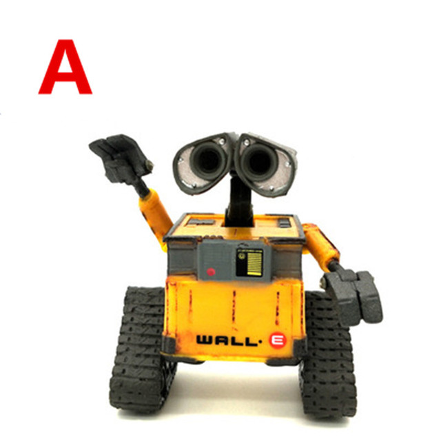2018 New arrival Wall-E Robot Wall E & EVE PVC Action Figure Collection Model Toys Dolls  WITH BOX 2