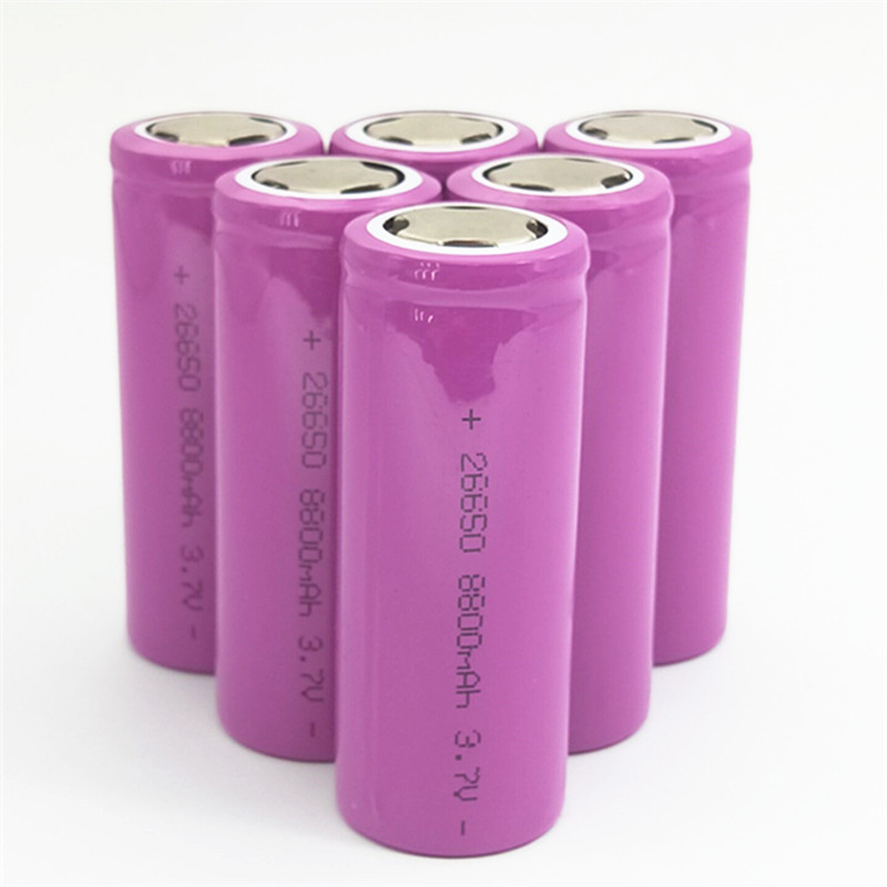 JNKXIXI 1 PCS 26650 rechargeable battery 26650A lithium battery 3 7V 8800mA 26650 Suitable for flashlight in Replacement Batteries from Consumer Electronics