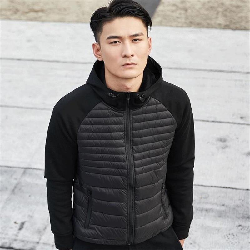 Xiaomi Uleemark hombres abajo chaqueta Casual moda invierno chaqueta abrigo para hombres con capucha algodón acolchado ropa abrigo hombre Outwear otoño - 5
