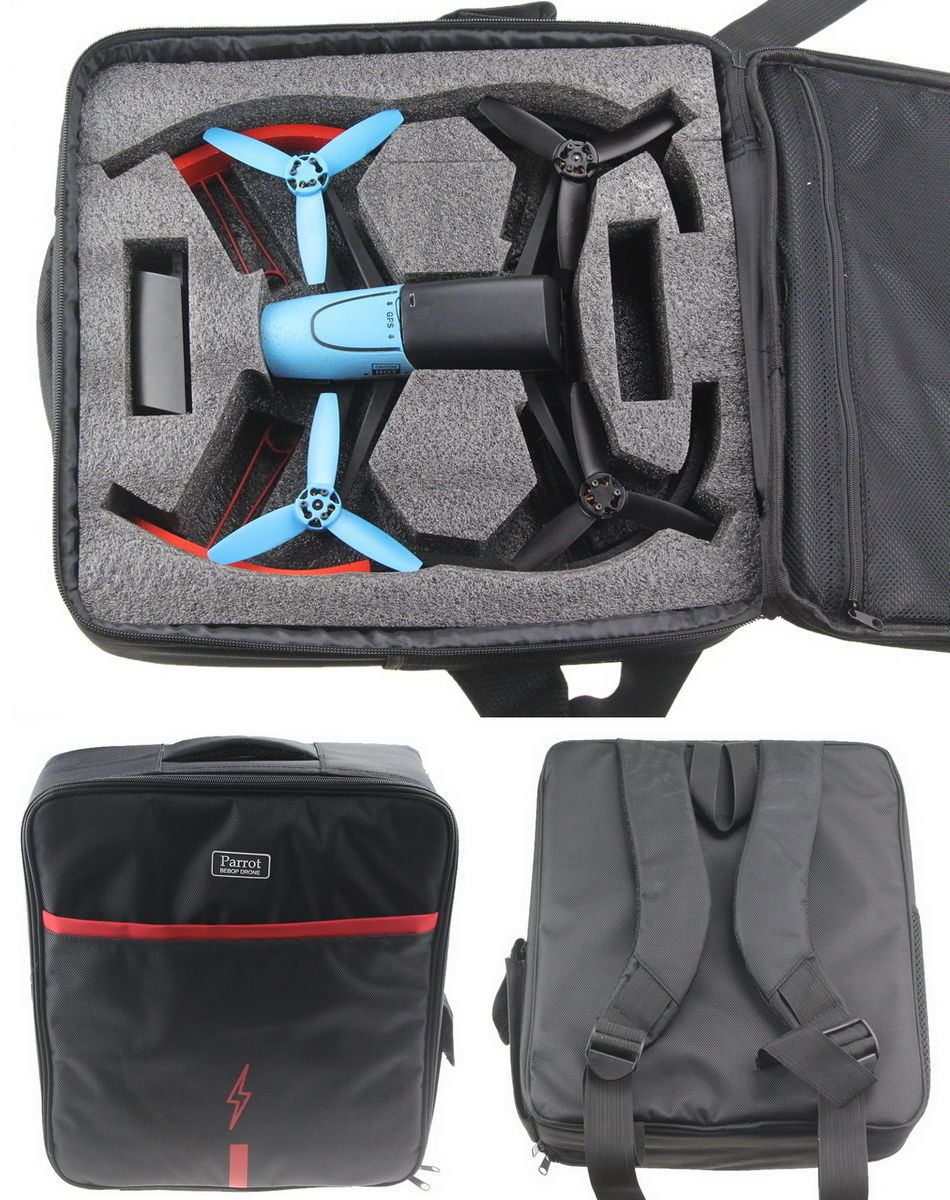 ФОТО 1pcs Waterproof Professional Portable Carrying Shoulder Bag Backpack Case for Parrot Bebop Drone 3.0