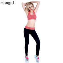 zangcl Women's Yoga Set Fitness Gym Sportswear for Women Female Leggings Yoga Sports Bra and Full Length Pants