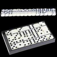 Holz Domino Box Spielzeug Spiel Set/28 Pcs Reise Dominosteine Ideal für Kinder Kinder