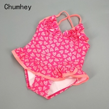 0-5T Chumhey Baby Girls Swimsuit Summer Bebe one piece swimwear infant bathing suit beachwear Swimming suit Swan Bath Suit недорого