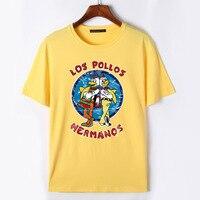 2017 Men S Fashion Breaking Bad T Shirt Chicken Brothers LOS POLLOS Hermanos Print Short Sleeve