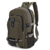 2016 High Quality Men Backpacks Multi Function Canvas Lock Travel Backpacks Teenage Women Men School Bags