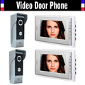 7-дюймовый цветной проводной видеодомофон  домофон  видеодомофон  дверной звонок  комплект ИК ночного видения  2 камеры  2 монитора