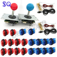 DIY Arcade Game KIT for PC/PS2/PS3 USB Zero Delay Encoder+Copy SANWA Joystick+ Led Push Button+cable for Arcade Game DIY Parts
