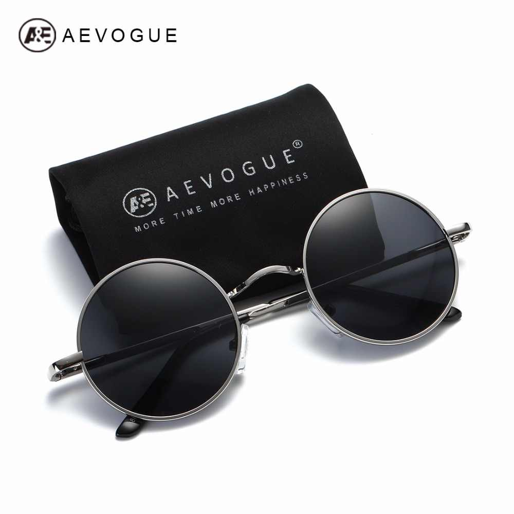 85092ad28fc AEVOGUE Polarized Sunglasses For Men Women Small Round Alloy Frame Summer  Style Unisex Sun Glasses