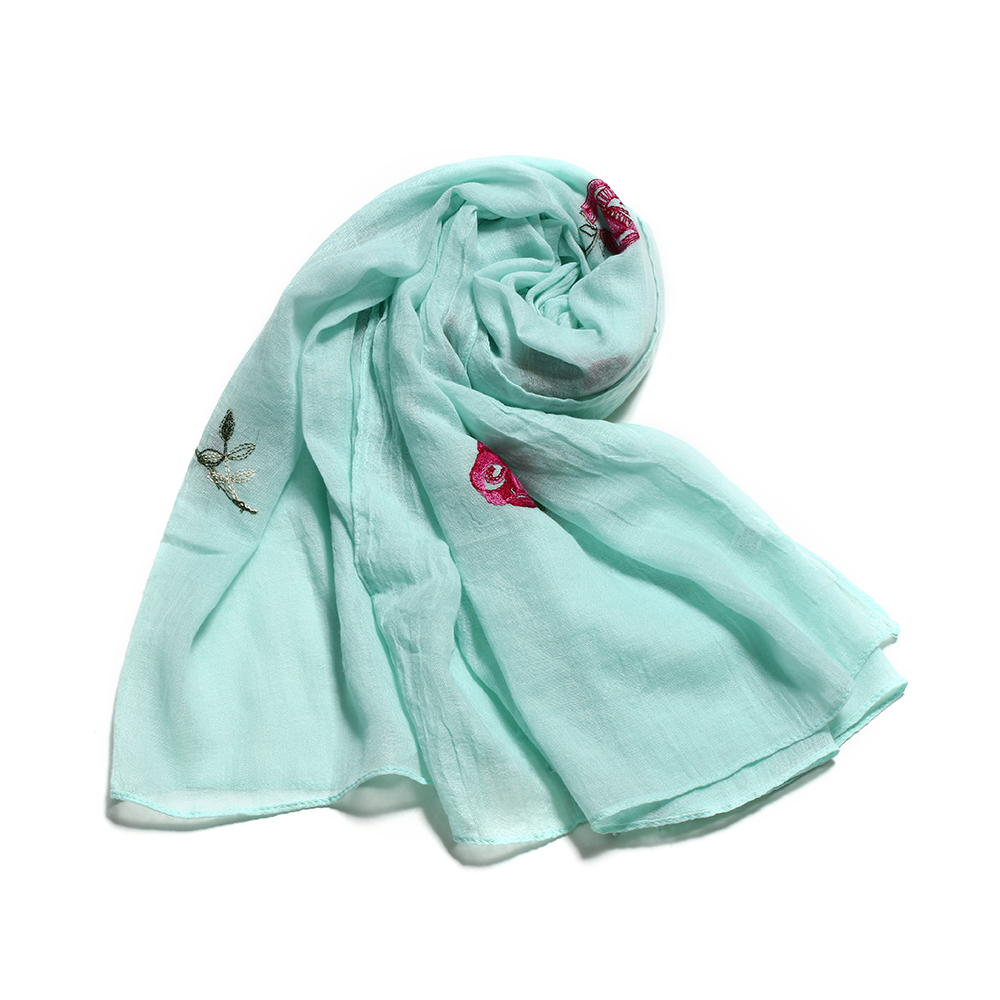 Pink And Grey Blossom Floral Scarf Throw Wrap shawl scarves present gift ladies