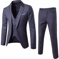 Jacket Vest Pants New 2015 Men S Fashion Brand Of High End Wedding Dress High Quality