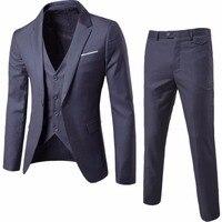 Jacket Vest Pants New 2015 Men S Fashion Brand Of High End Wedding Dress High Quality