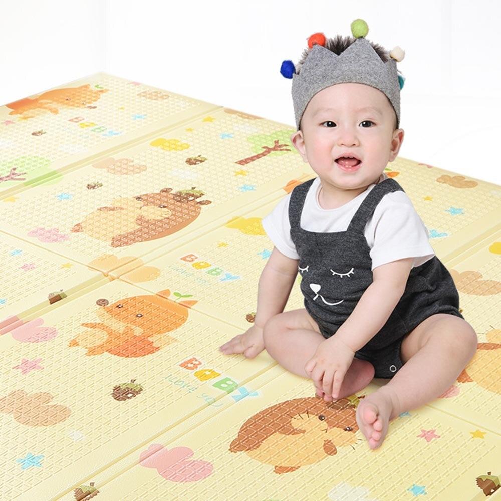 Tapis doux de jeu de bébé XPE épaississant vert tapis de salon couture spéciale tapis pliant non toxique tapis sans odeur