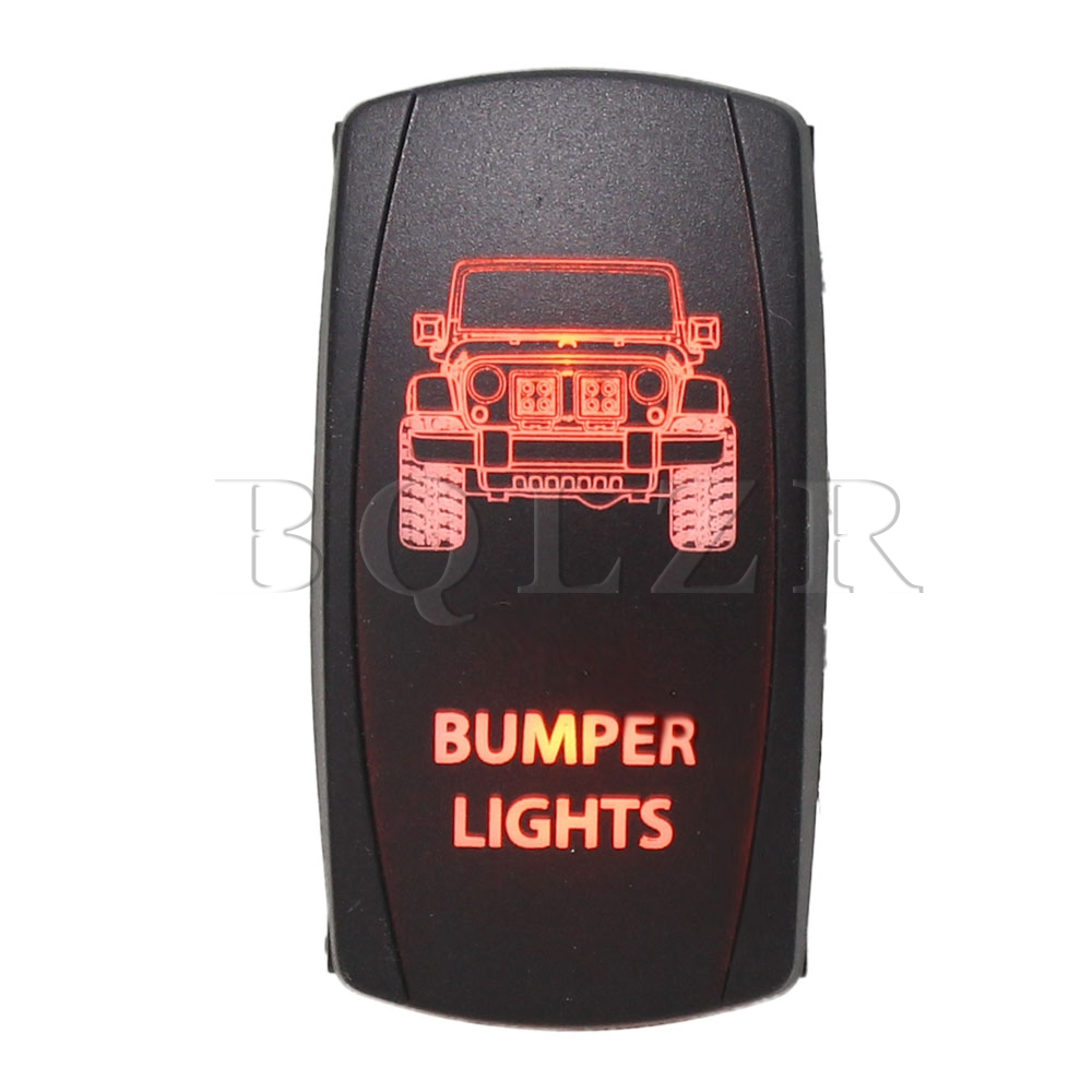 DC 12V-24V 7pin Momentary ON-OFF-ON Rocker Switch Orange Led Bumper Lights BQLZR bprd hell on earth v 7