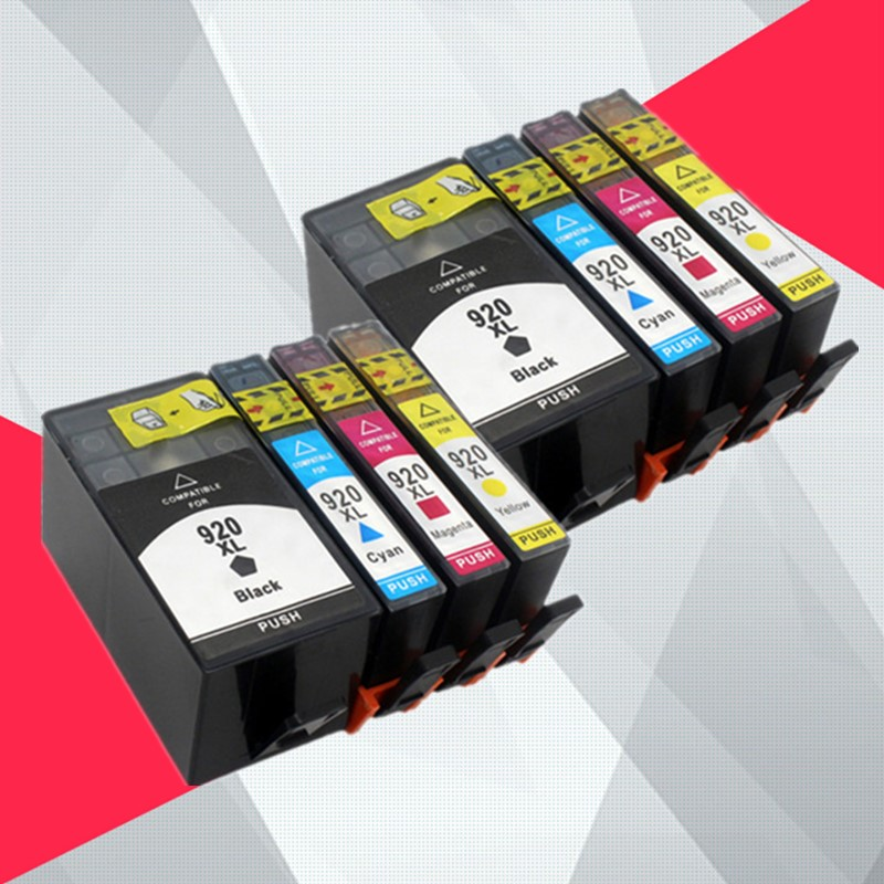 8PK Compatible ink cartridge for <font><b>HP</b></font> 920XL for <font><b>hp</b></font> 920 For HP920 Officejet 6000 <font><b>6500</b></font> 6500A 7000 7500 7500A <font><b>printer</b></font> with chip image