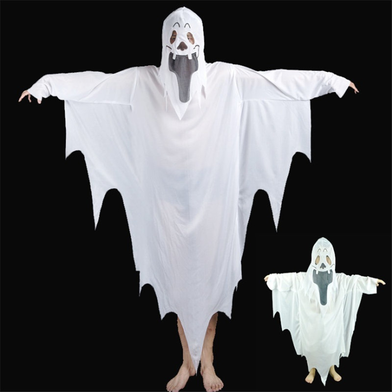 White Ghost Costume Terror Props Costume Devil White Impermanence Parenthood Costume Halloween Cosplay