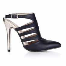 The Women'S Shoes Taste In The Spring Of 2016 Popular New Black Sexy  High-Heeled Sandals Sm0640-26a