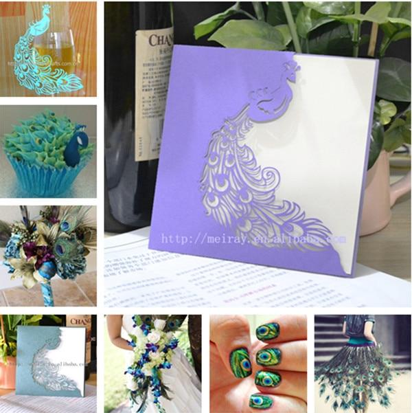 Peacock Wedding Favorspeacock Themewedding Pocket Cards Invitation